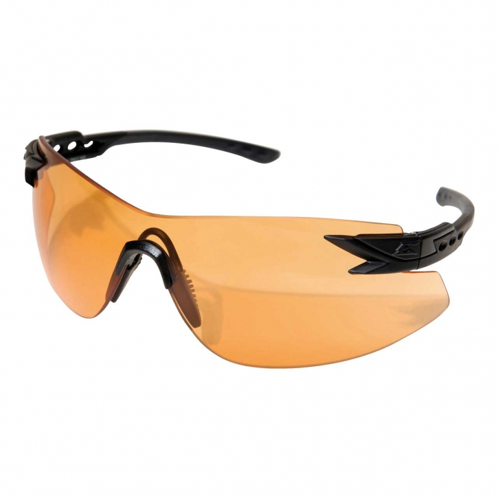 Edge Tactical Safety Eyewear, Notch, matt Schwarz, antikratzbeschichtet, beschlagfrie Tiger`s Eye V
