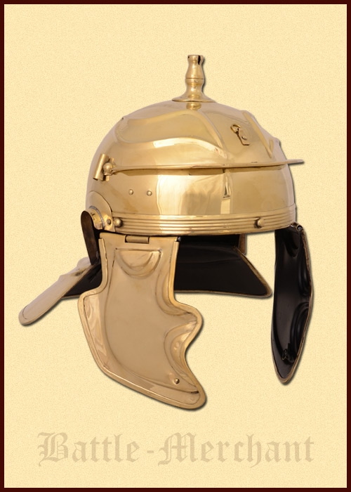Römerhelm Imperial Gallic -G-  Worms, Messing