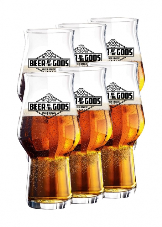 6 x Wacken Brauerei - Bierglas Beer of the Gods, Craftmaster One