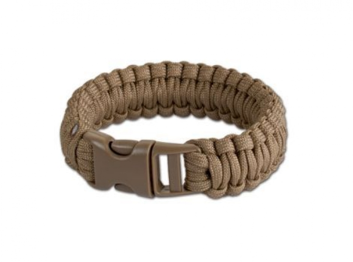 Survivalarmband coyote brown 8 inch