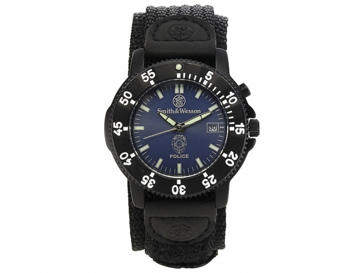 Smith & Wesson Uhr Police, Hintergrundbeleuchtung, Nylon-Armband, WEEE-Reg.-Nr. DE93223650