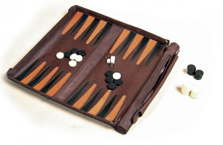 Leathersafe 'Roll & Play Packgammon