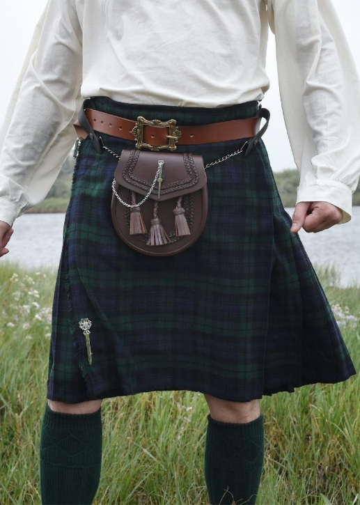 8 Yard Kilt, Schottenrock, Black Watch Tartan, Größe XL