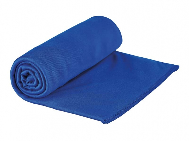 Sea to Summit POCKET TOWEL M, Mikrofaserhandtuch, cobalt-blau, Aufbewahrungstasche