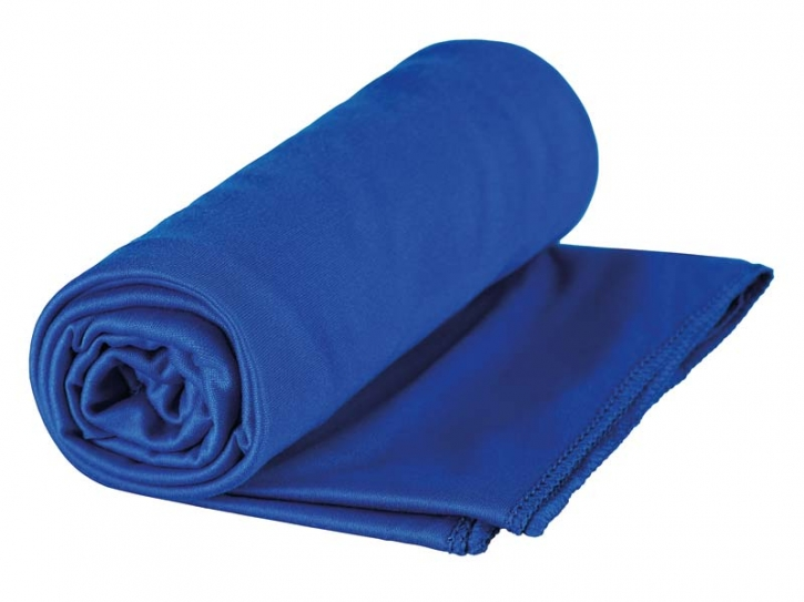 Sea to Summit POCKET TOWEL L, Mikrofaserhandtuch, cobalt-blau, Aufbewahrungstasche